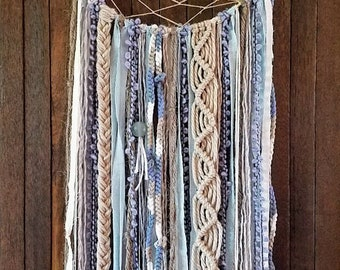 Large Blue Dream Catcher//Cream/Off-White Dream Catcher//Tan Dream Catcher (multiple shades)