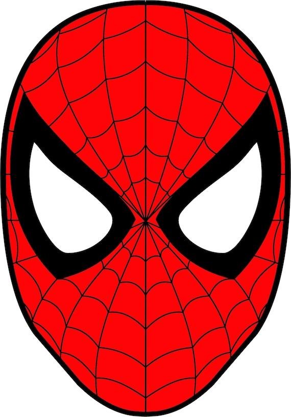 Spiderman Mask Superhero SVG DXF Logo Scalable Silhouette