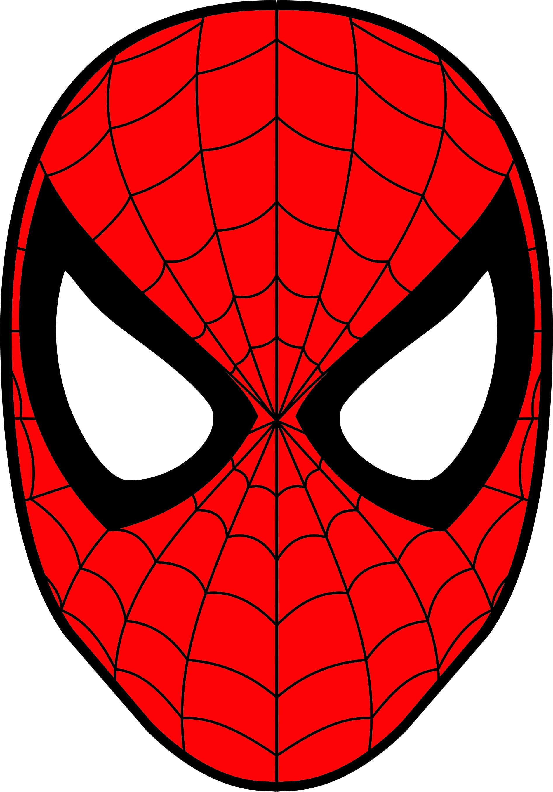 Spiderman Mask Superhero SVG DXF Logo Scalable Silhouette