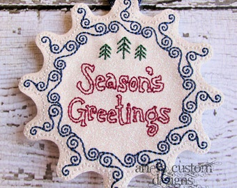 Season's Greetings Christmas Tree Ornament