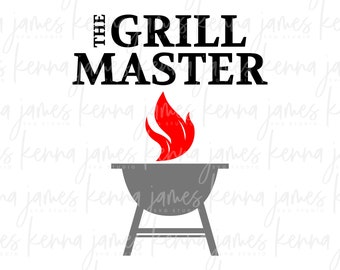 Grill Master svg   Master Of The Grill svg   Father's Day svg   Father svg   Dad svg   Step Dad svg   SVG   DXF   JPG   cut file