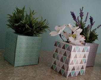Table Centerpiece realistic artificial lavender Succulent Floral greenery Gift for Her Home Decor Retro decoration Upcycled box