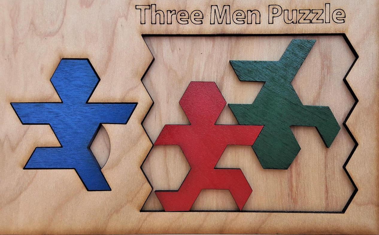 Three Man Puzzle. World\'s Hardest Three Piece Puzzle.
