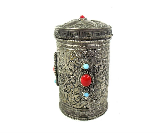 Beautifully Crafted Indian Repoussé Trinket Box