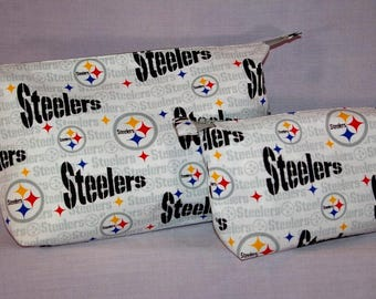 Pittsburgh Steelers themed Zipper Pouches - Set of 2.