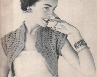 1954 Hair Pin Lace Hamaca Vintage Crochet Pattern 435