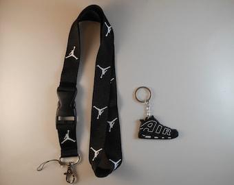 Jordan lanyard with Nike keychain. New!!