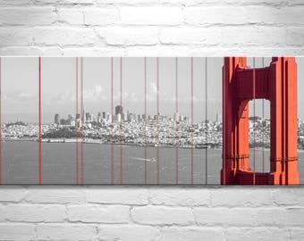 Golden Gate Bridge, Panoramic Wall Art, San Francisco Art, California Art, California Gift, San Francisco Gift, San Francisco Bay Area Photo