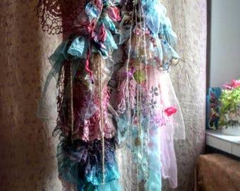 Fairy boho shawl victorian scarf embellished scarf flower scarf shrug Scarves & Wraps boho scarf gypsy scarf fairy scarf