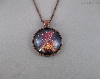 Tangled Lanterns Cabochon Pendant Necklace