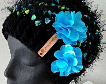 Fuzzy Funky Hat -blue