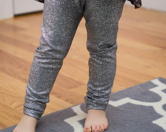 Silver leggings, Holiday leggings, sparkle Leggings, New Years Eve Leggings, Birthday Legging