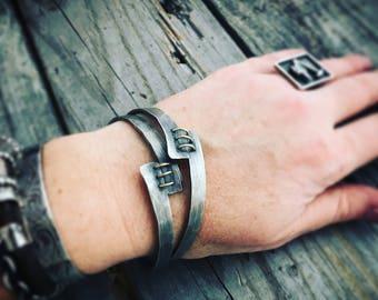 Sterling Silver Bangle Bracelet Handmade Bangle Bracelet Wild Prairie Silver Jewelry By Joy Kruse