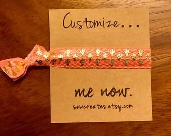 custom wording ties- Beach Hair Don't Care- Favors- Elastic Hair Ties- Pony Tail Holder- Hair Accessory- Elastic Hair Tiess - Wedding girls