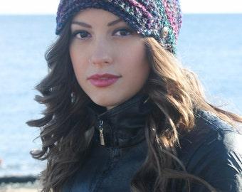 Newsboy Crochet Hat Pattern: 'Marble Newsboy' Toddler - Women's
