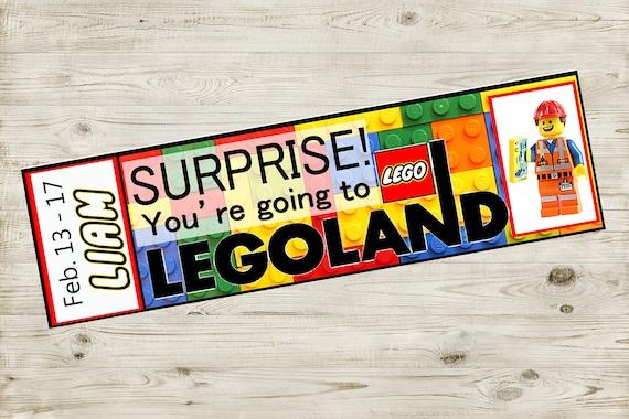 printable ticket to legoland with custom name reveal. Black Bedroom Furniture Sets. Home Design Ideas