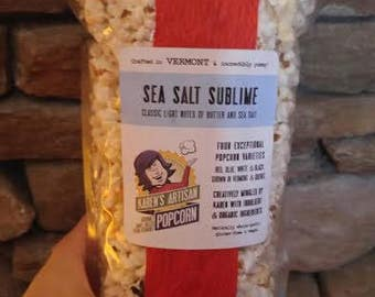 Sea Salt Sublime Popcorn - Gourmet Popcorn - Made in Vermont - Light notes of butter and sea salt on artisan, kettle-cooked VT popcorn!
