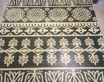 Patterned Floor Cloth