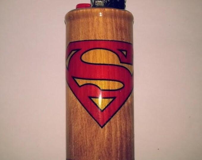 Superman Lighter Case,  Lighter Holder, Lighter Sleeve