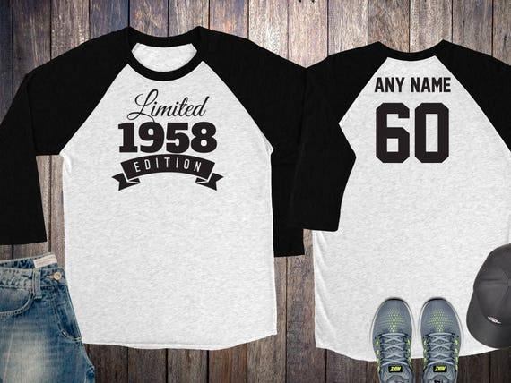 60 Year Old Birthday Sweatshirt Limited Edition 1958 Birthday Sweater 60th Birthday Celebration Sweater Birthday Gift