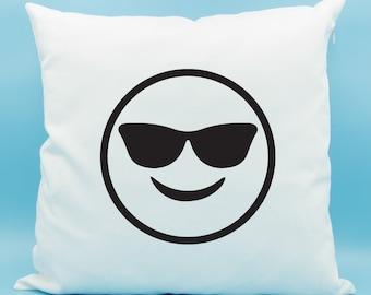 Cool Emoji Pillow - Sunglass Face Emoji Pillow - Sunglasses Face Emoji Pillow - Sunglass Face Emoji Cushion - Mutual Best Friend