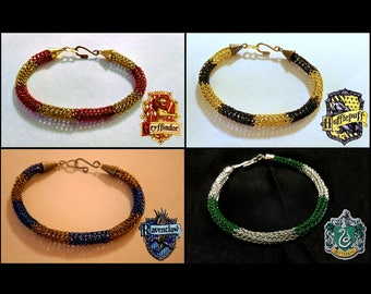 Harry Potter House Colors Viking Knit Bracelets - Gryffindor, Hufflepuff, Ravenclaw, Slytherin