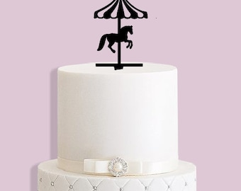 Merry go Round Cake Topper