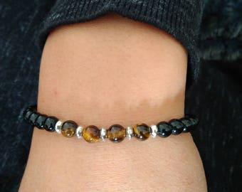 Onyx and Tiger Œil bracelet