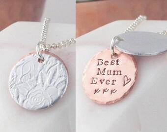 secret message necklace, secret message, message necklace, hidden necklace, gift for mum, gift for mom, gift for mum, rose necklace, copper