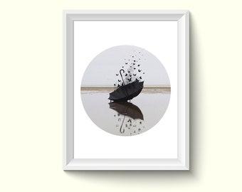 Butterflies Umbrella Photography Poster Art Print P08