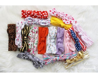 Baby Headband Grab Bag, Baby Headband, Baby Headbands, Top Knot Headbands, Knot Headbands, Baby Turban, Turban Headbands, Toddler Headbands