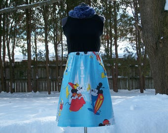 Mickey & Minnie Mouse Blue Skirt