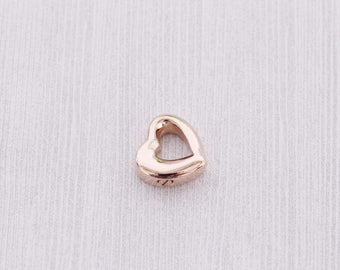 Rose Gold Open Heart Cremation Urn - Cremation Jewelry - Cremation Necklace - Ash Jewelry - Cremation Charm  Stainless Urn  Jewelry Supplies