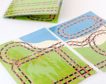 Mini Train Printable Play Mat - BUNDLE of Sets A and B. Quiet toy and Travel toy