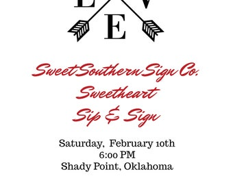 Sweetheart Sip & Sign Deposit