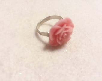 Pink/Mint/Yellow Adjustable Statement Rose Ring (Please be sure to select color when ordering)