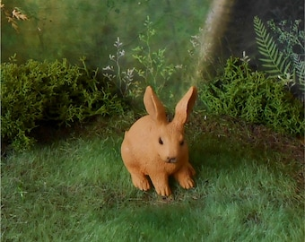 Rabbit Figurine~Bunny Figurine~Miniature 1 3/4 Inch Rabbit~Miniature Bunny~Easter Bunny~Miniature Garden~Mini Rabbit~Mini Bunny Rabbit