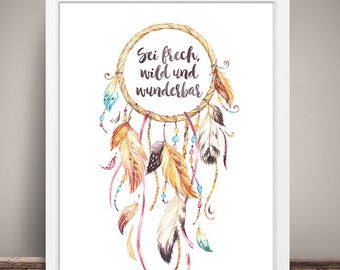 Art print baby & children's dream catcher