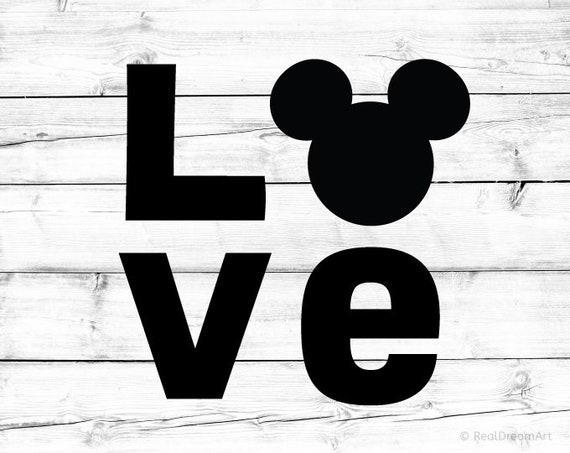 Mickey Mouse Love Svg Disney Love Svg Disneyland Svg Mickey