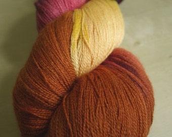 Autumn Brilliance Celestial laceweight yarn