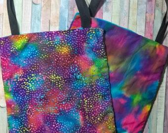 Nerditotes Handmade Handsewn Rainbow Tote Bag