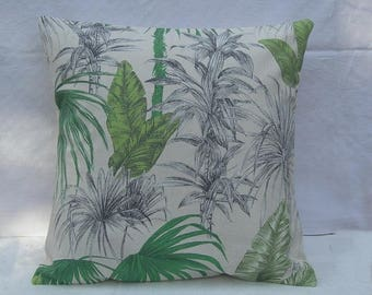 Foliage exotic Palm tree spirit nature cotton Cushion cover