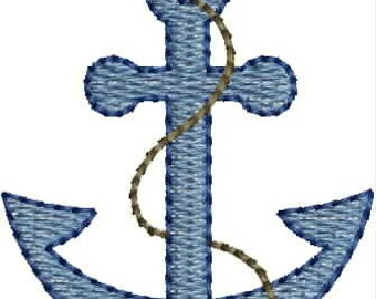 Mini Anchor embroidery designs Instant Download
