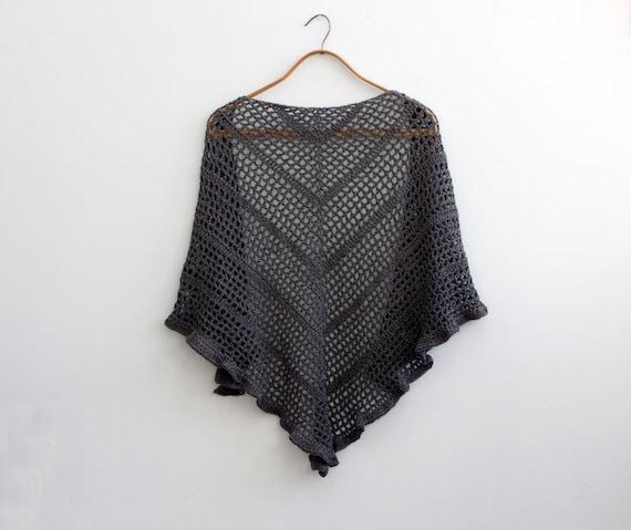 Simple Triangle Lace Shawl Crochet Pattern Wedding Shawl Lace