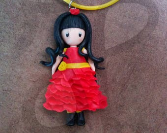 Pendant with floral doll: ROSE