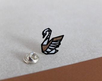 Pin Swan - copper edition