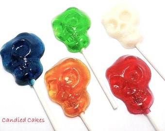 12 SKULL LOLLIPOPS - Halloween Party Favors, Halloween Party