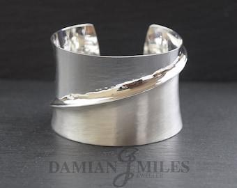 Fine silver Fold Cuff Bangle