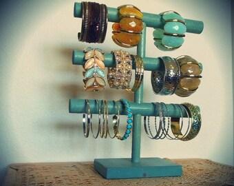 BIG SALE 20% OFF Rustic Bracelet Display, Bracelet Holder, Bracelet Storage, 3 Tier, Cuff holder