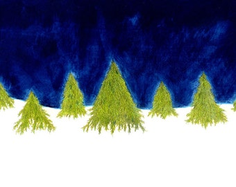 """Tree Forest Print: digital print of an original painting available 5x7"""" or 8x10"""""""